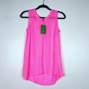 NWT Lilly Pulitzer Larissah Top  Pink Size XXS